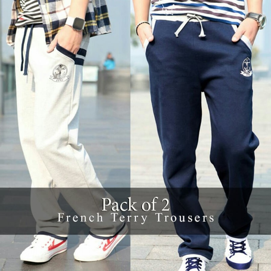 Pack of 2 HQ French Terry Trousers MRK-103
