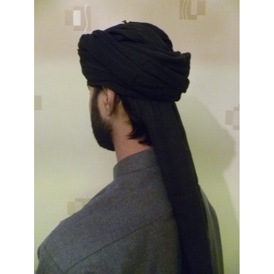 BLACK AMAMAH / TURBAN / PAGRI CLOTH