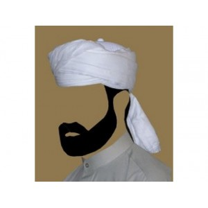 WHITE AMAMAH / TURBAN / PAGRI CLOTH