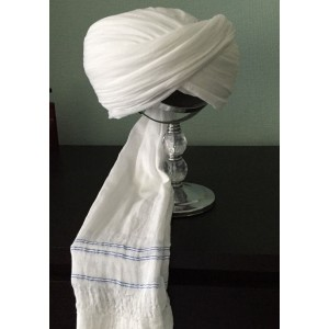 WHITE STRIPE AMAMAH / TURBAN / PAGRI CLOTH