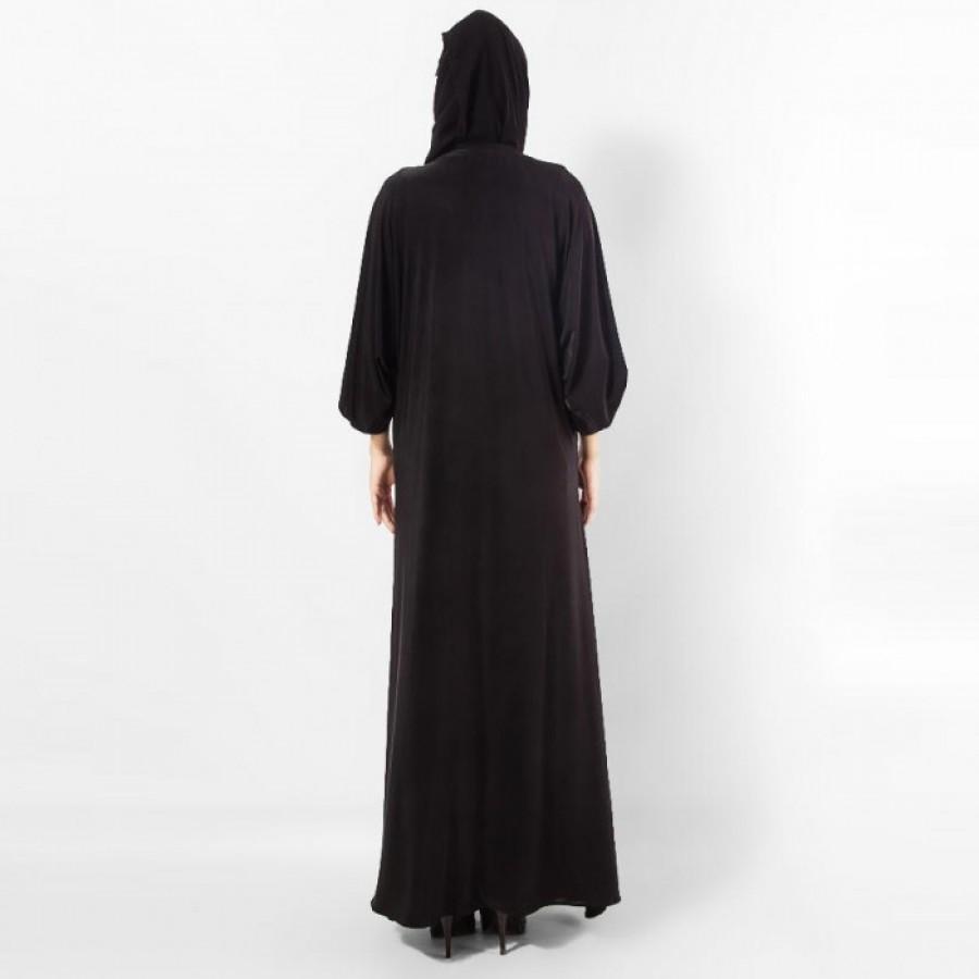 Fine Quality Women's Jersey Abaya / Burqa AME-003 - Black
