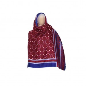 SILK BASED BLOCK PRINTED SINDHI AJRAK SA#09