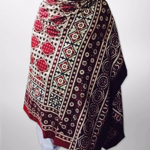 Pure Cotton Herbal Dyed Block Printed Sindhi Ajrak (Original) SA-28-6