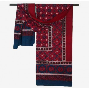 PURE COTTON BLOCK PRINTED (ORIGINAL) SINDHI AJRAK SA#12