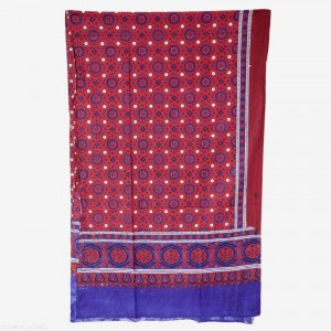 GURANTEED COTTON HIGH QUALITY 2 PIECE BLOCK PRINTED SINDHI AJRAK SA#07