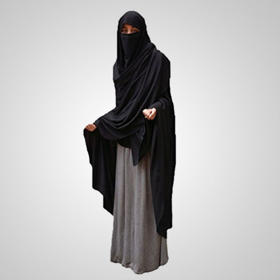 Fine Quality Women's Chaddar Burqa AME-001 - Black