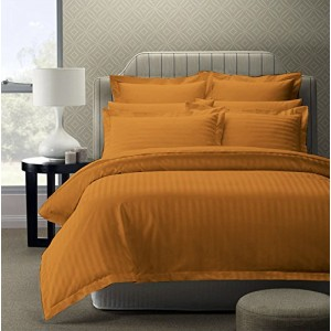 Pure Damask 300 TC Egyptian Cotton Sateen Solid Color Bedsets CSB-056 - Mustard