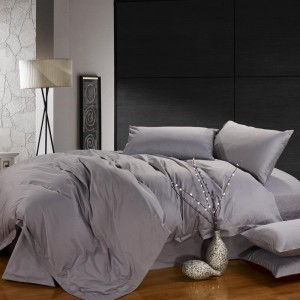 Pure Cotton Sateen Solid Color BedSets [All Sizes] CSB-015  - Grey