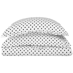White Pure Cotton Plain Polka Dots Printed Kids Bedsheet CKB-04