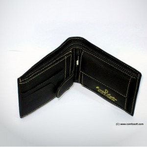 17 Pockets Genuine Cow Leather Wallet For Him CLW#03 - Black