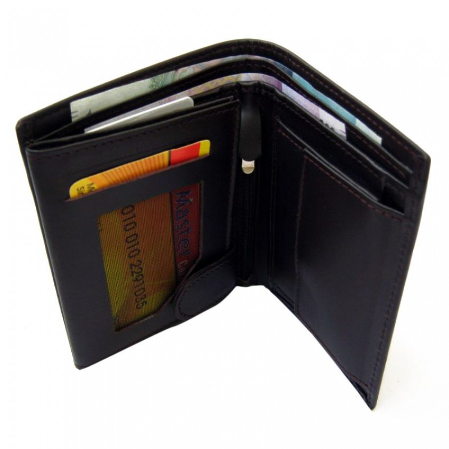 17 Pockets Genuine Cow Leather Wallet For Him CLW#32 Color: Commando German Style