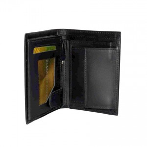 17 Pockets Genuine Cow Leather Wallet For Him CLW#34 Color: Black