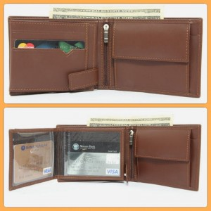17 Pockets Genuine Cow Leather Wallet For Him CLW#36 Color: Brown