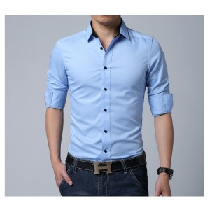 BLUE COMFORTABLE FORMAL / JEANS SHIRT CS-03