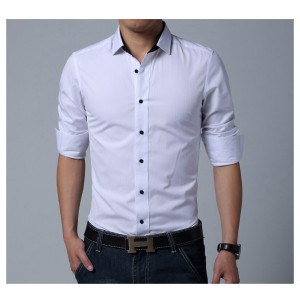 WHITE COMFORTABLE FORMAL / JEANS SHIRT CS-03