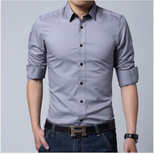 GRAY COMFORTABLE FORMAL / JEANS SHIRT CS-03