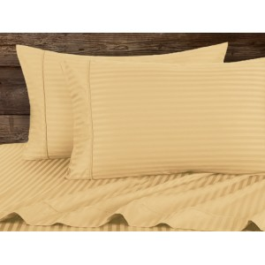 Light Brown Stripe Pure Cotton Sateen Bedsheet CC-201