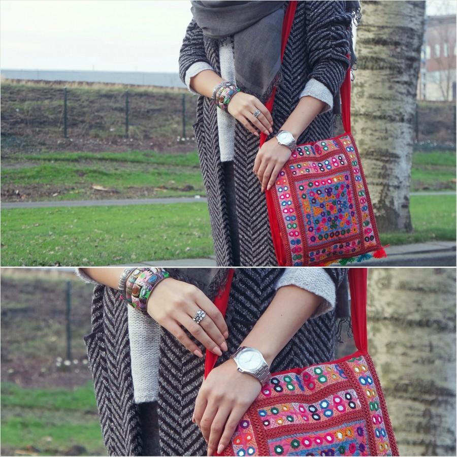 Handmade Shoulder Bag with Traditional Sindhi Dastkari - HM#06