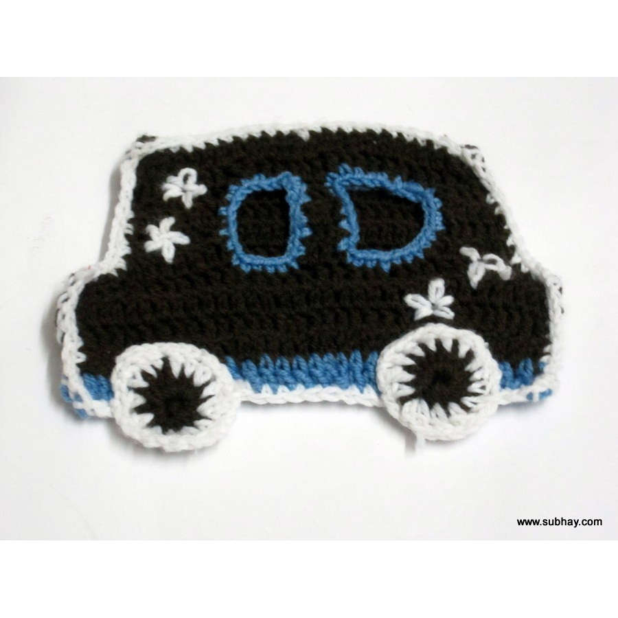 Crochet Car Shaped Purse, Pouch or Wallet
