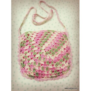 Crochet Elegant Style Mutli Color Shoulder Bag or Purse