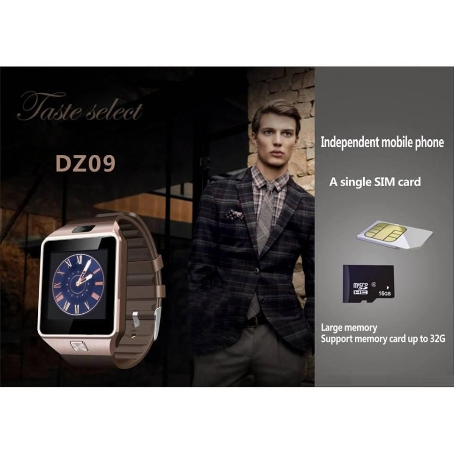 DZ09 Smart Watch with Bluetooth, Camera and Sim (50% OFF)