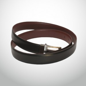 Genuine Leather Fippable Waist Belt GLB#01 - Brown & Black