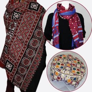 Pack of Two Ajrak & Sindi Topi GiftDeal-24