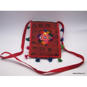 Handmade Tablet Bag with Traditional Sindhi Dastkari - HM#01