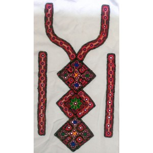 Handmade Sindhi Embriodered Kurti Neck's Piece HM-13