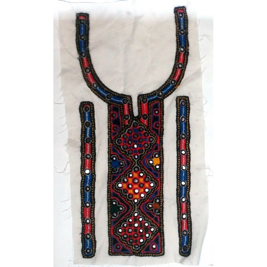 Handmade Sindhi Embriodered Kurti Neck's Piece HM-14