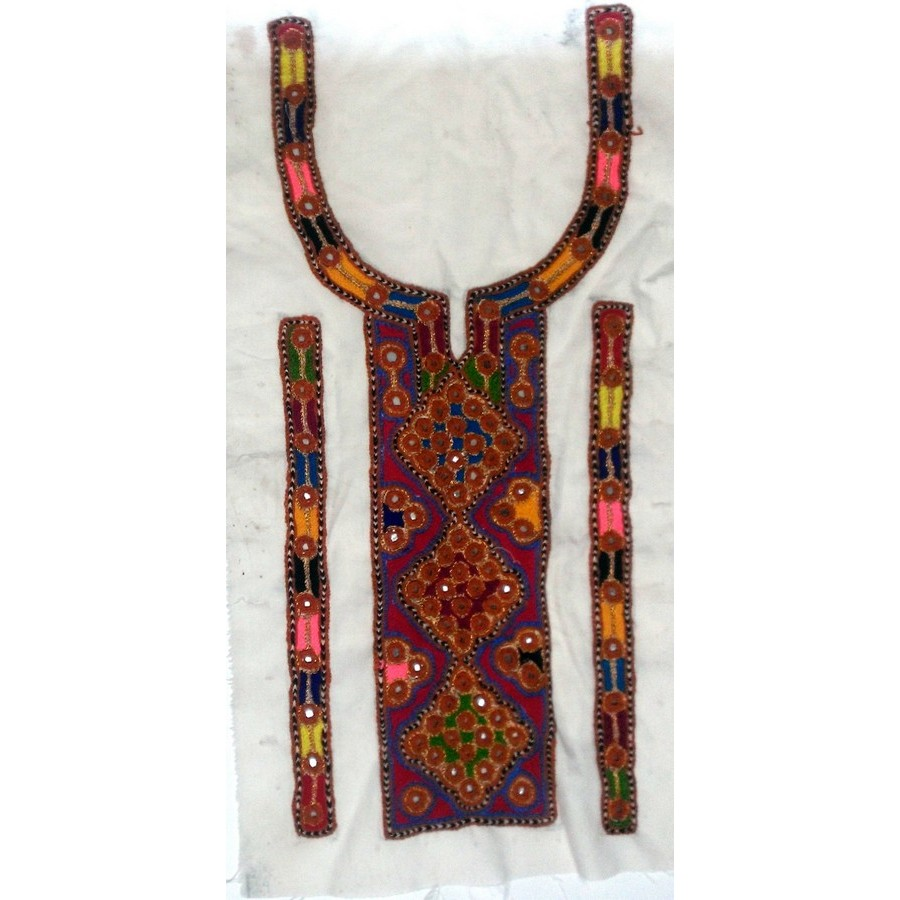 Handmade Sindhi Embriodered Kurti Neck's Piece HM-15