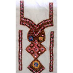 Handmade Sindhi Embroidered Kurti Neck's Piece HM-17