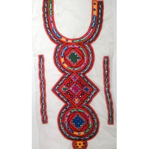 Handmade Sindhi Embroidered Kurti Neck's Piece HM-18