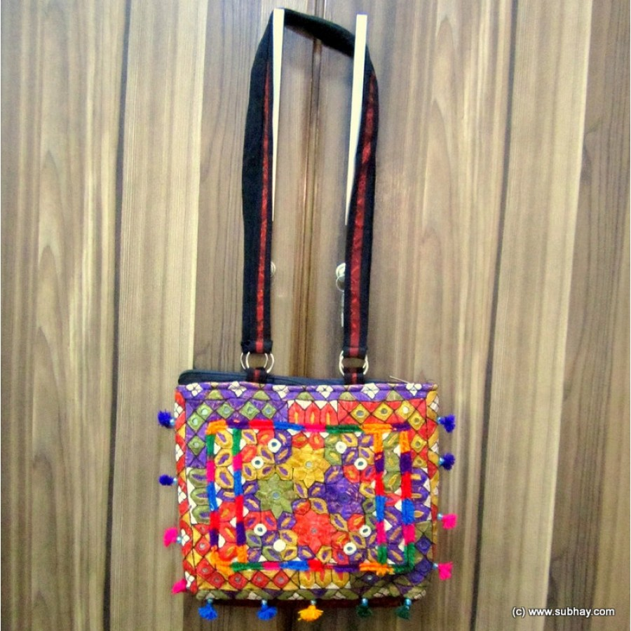 Handmade Shoulder Bag with Traditional Sindhi CTC Dastkari - HM#21
