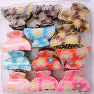 Combo of 3 Mutli Color Floral Hair Catchers MC-04