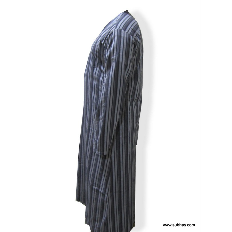 COMFORTABLE BLACK & GRAY WASH&WEAR THOBE / JUBBA CJ-01
