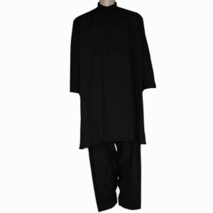 Black Cotton Kurta Shalwar For Him KS-005