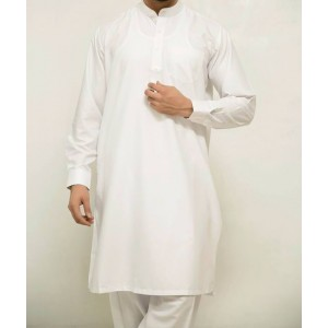 OFF-WHITE KAMEEZ SHALWAR WITH KUFFS KS-01