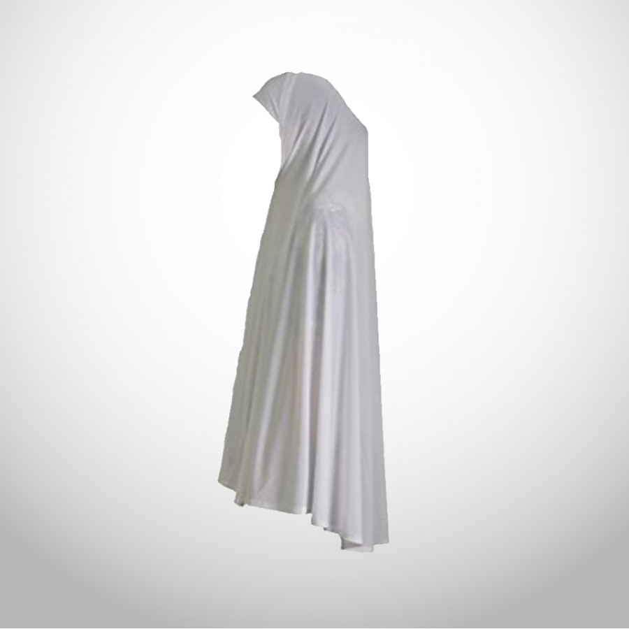 Women's Cotton Scarf or Hajj or Umrah Ihram - White