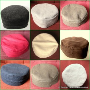 Fine Quality 7 Colors Winter Acrowool Prayer Cap / Kufi CHM-60