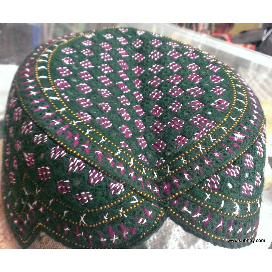 Traditionally Famous Hats Caps Kufis Being Used In Pakistan Topi Baseball Vintage Import Snapback 02 Sindhi Balochi Jamali Bughti Cap Hand Made Mk