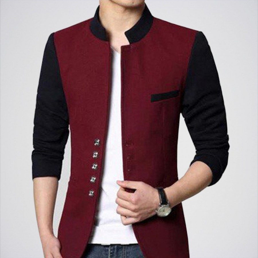 Men's Double Tone Fleece Coat WN-03