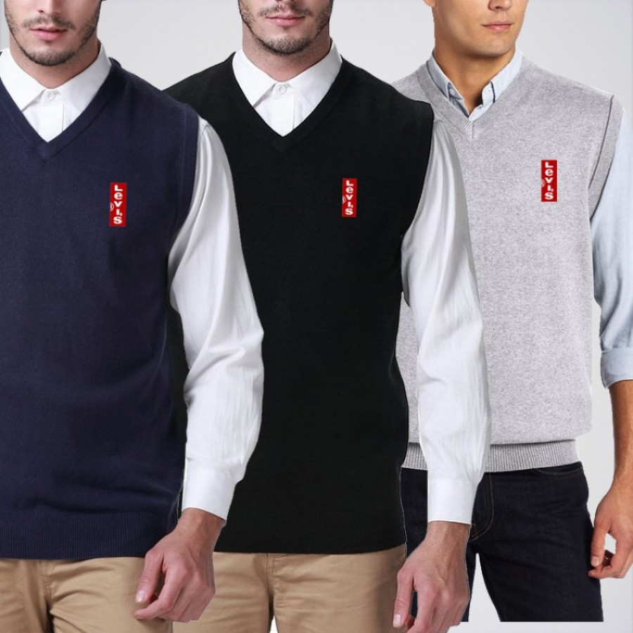 Men's Pack of 3 Branded Sweaters WN-10
