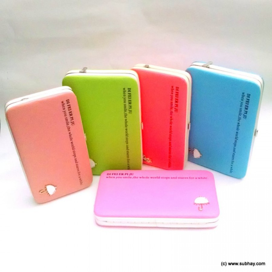 Buy Single Color Digital Mobile Wallet or Clutch with Button Closure