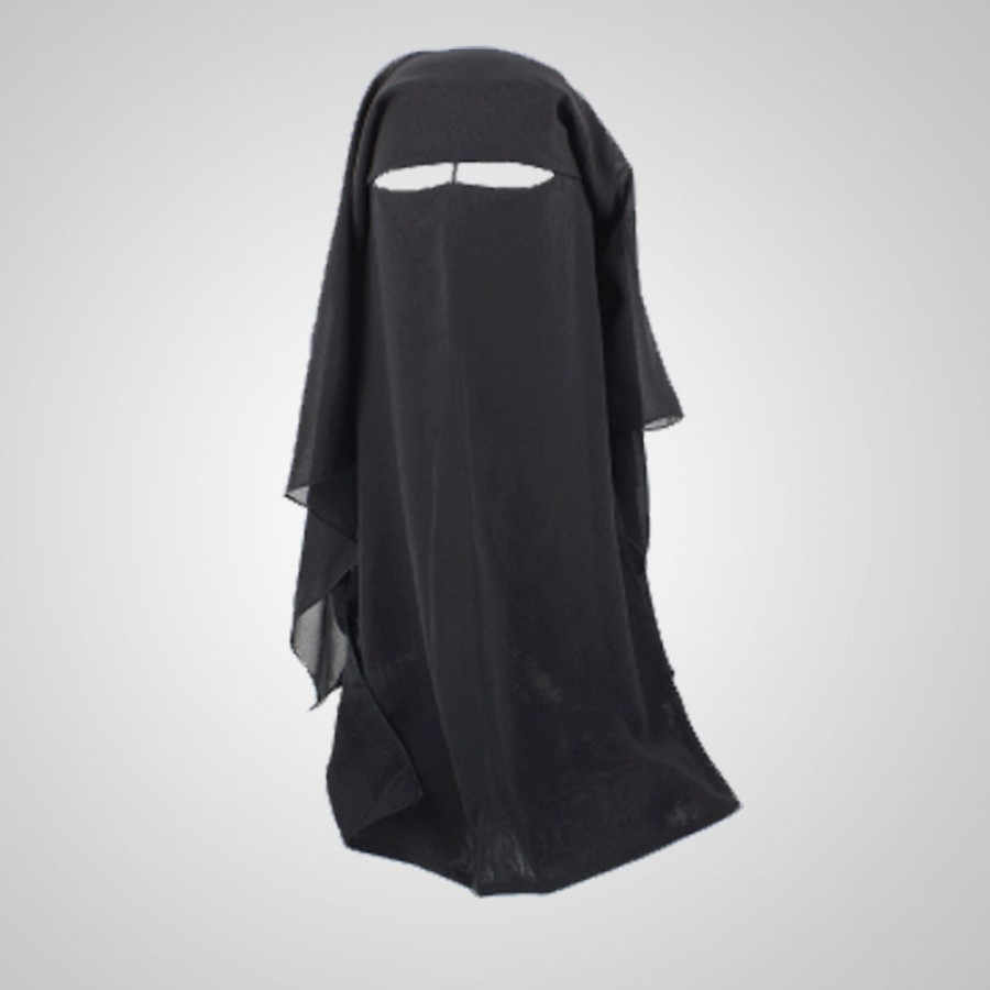 Double Layered (Patt) Abaya Niqab for Her HQ-03