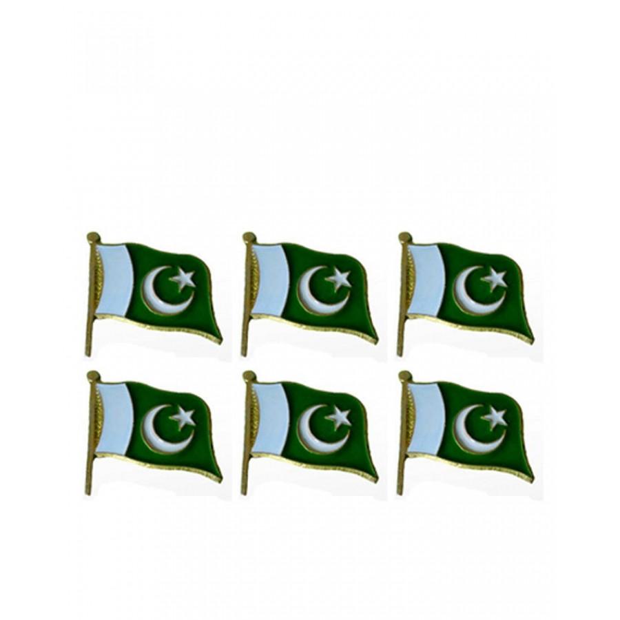0182d70704 Buy Pack of 6 Pakistan Flag Badges PAK-016 - Online in Pakistan