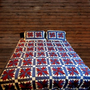 Pure Cotton Sateen 3 Colors Handmade Sindhi Tukri Ralli / Rally / Appliqued Bedset RBS-08