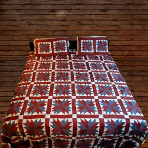 Pure Cotton Sateen 3 Colors Handmade Sindhi Tukri Ralli / Rally / Appliqued Bedset RBS-10