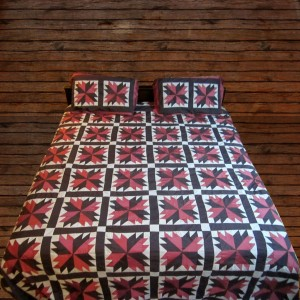 Pure Cotton Sateen 3 Colors Handmade Sindhi Tukri Ralli / Rally / Appliqued Bedset RBS-12