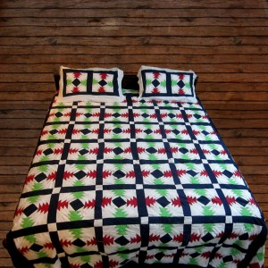 Pure Cotton Multi Color Handmade Sindhi Tukri Ralli / Rally / Appliqued Bedset RBS-13